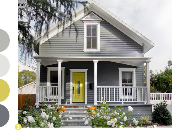 Exterior paint inspiration - Dark grey exterior house paint concept ...
