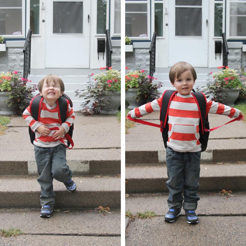 Finn's First Day of Preschool