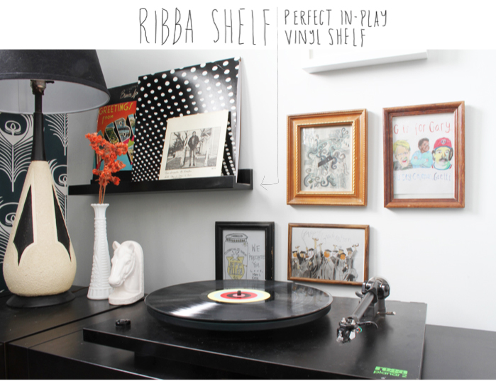 Ribba Ledges are the Perfect In Play Vinyl Shelf