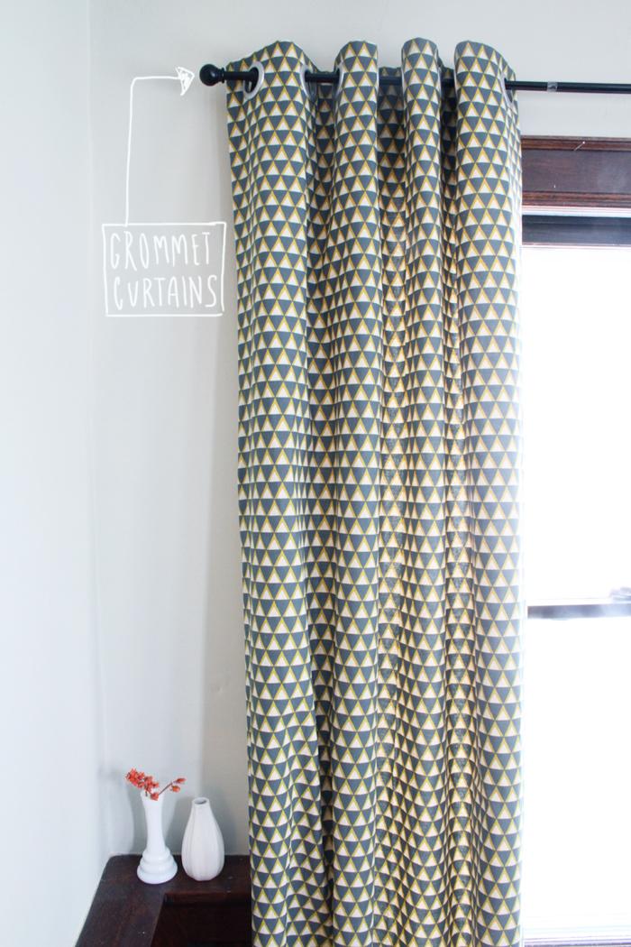 Tutorial DIY Grommet Curtains