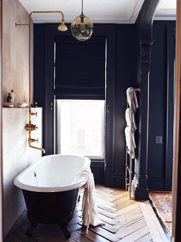 Guest Bathroom Colors Navy