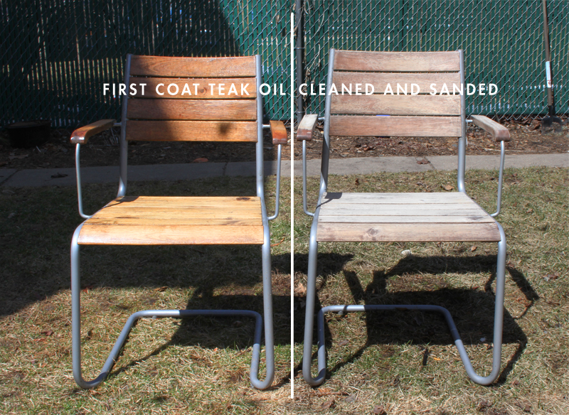 Weathered Ikea Acacia Wood Furniture Before and After Teak Oil