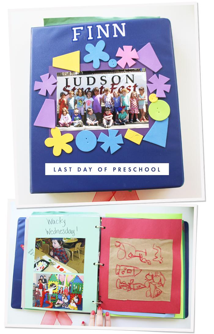 Finn's Preschool Scrapbook