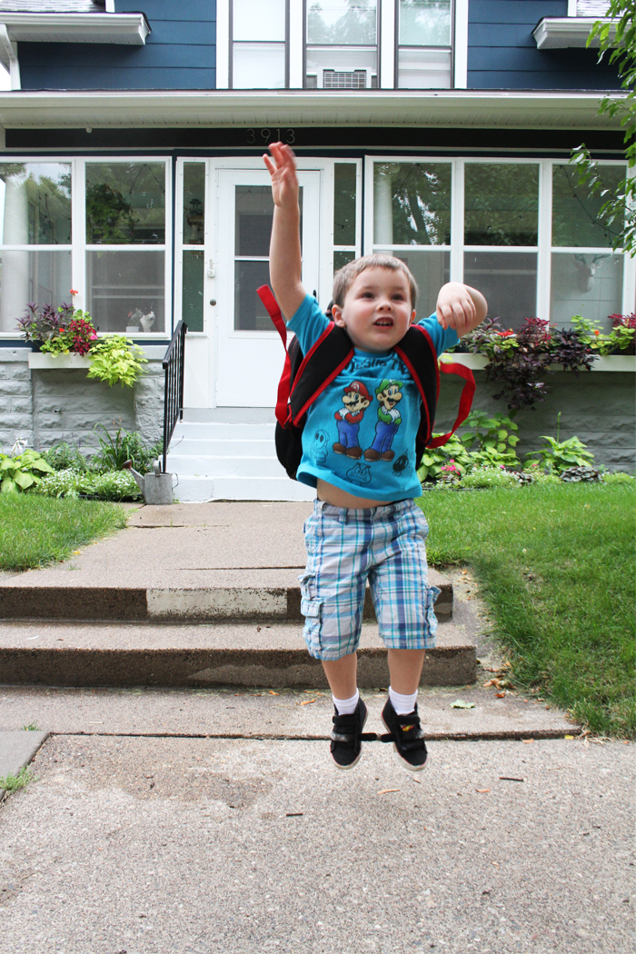 Finn's First Day of School