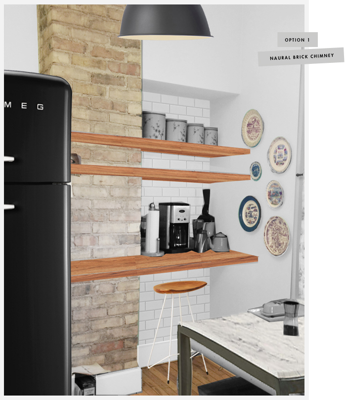 Unifying Spaces in the Kitchen with Horizontal Shelving
