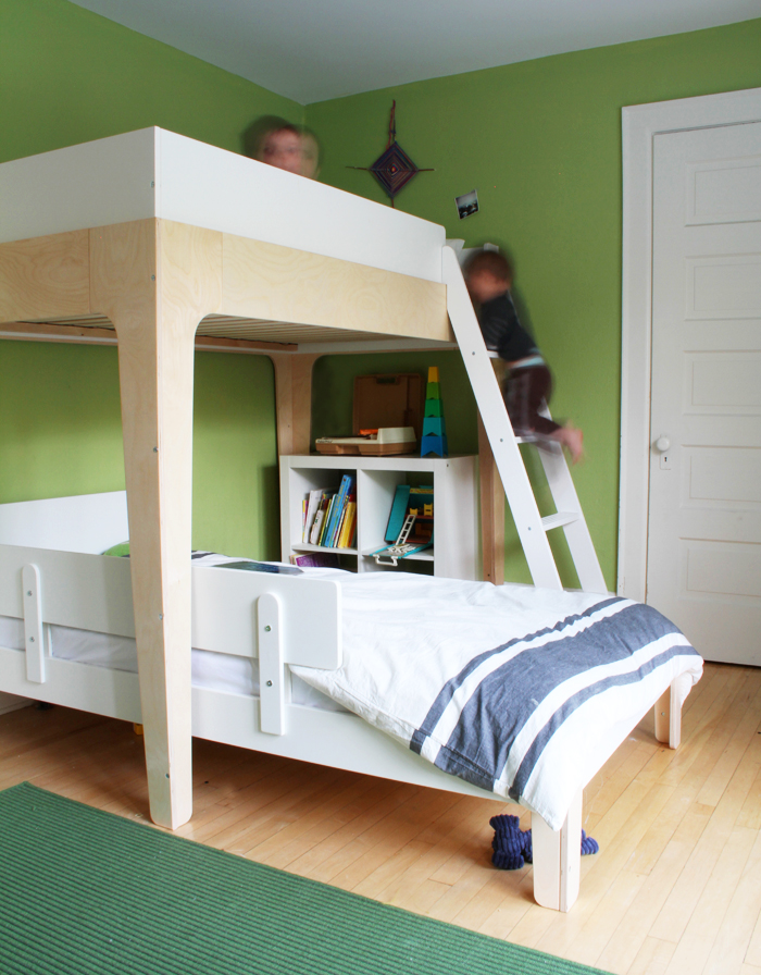Oeuf Perch Bunk Bed in the Boys Room