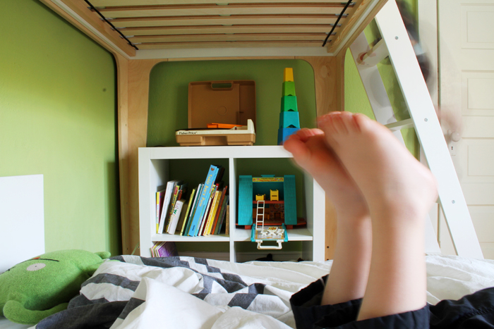 Oeuf Bunk Bed in the Boys Room