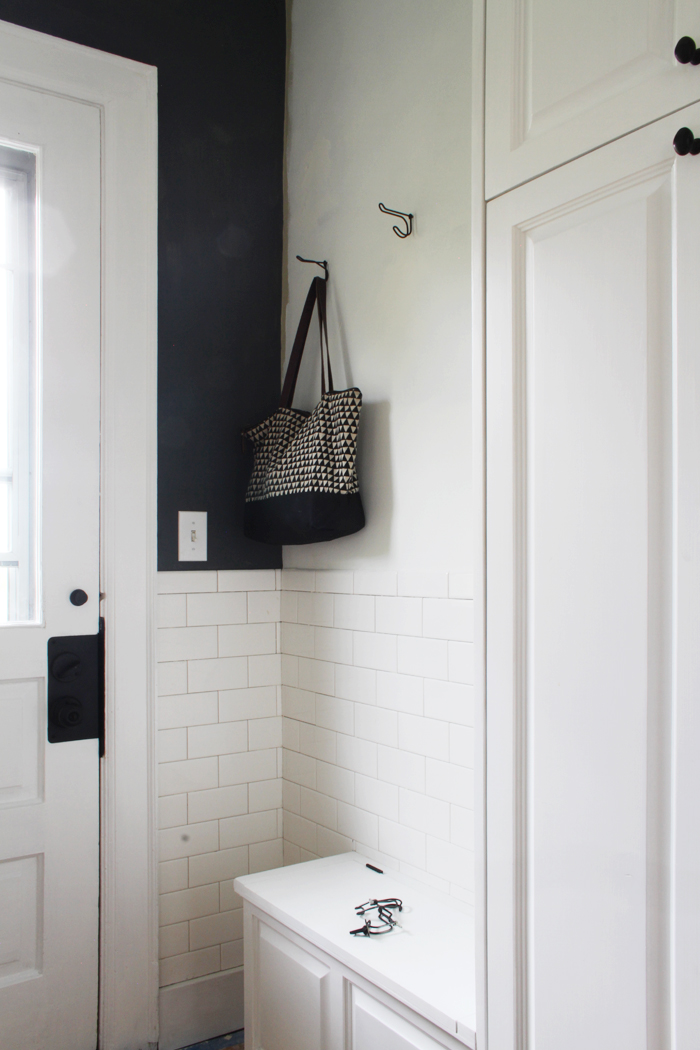 Subway Tile in the Mudroom