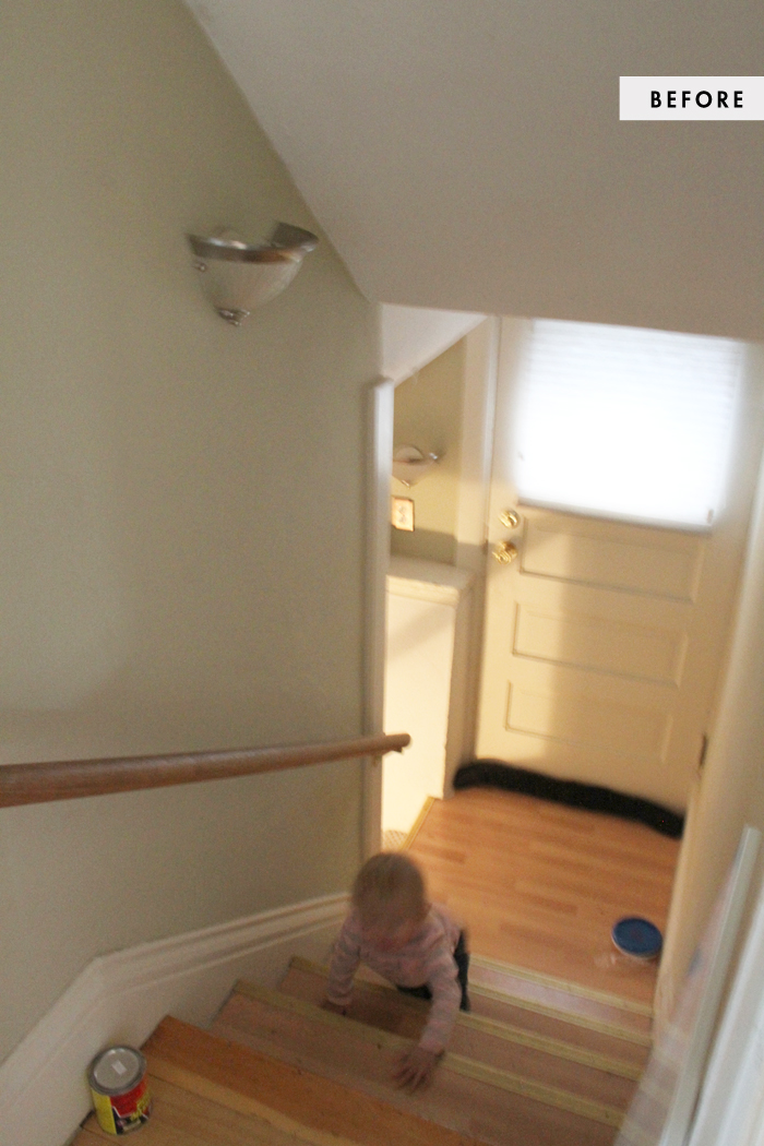 Lighting Basement Washroom Stairs: Mini Makeover : The Basement Stairs
