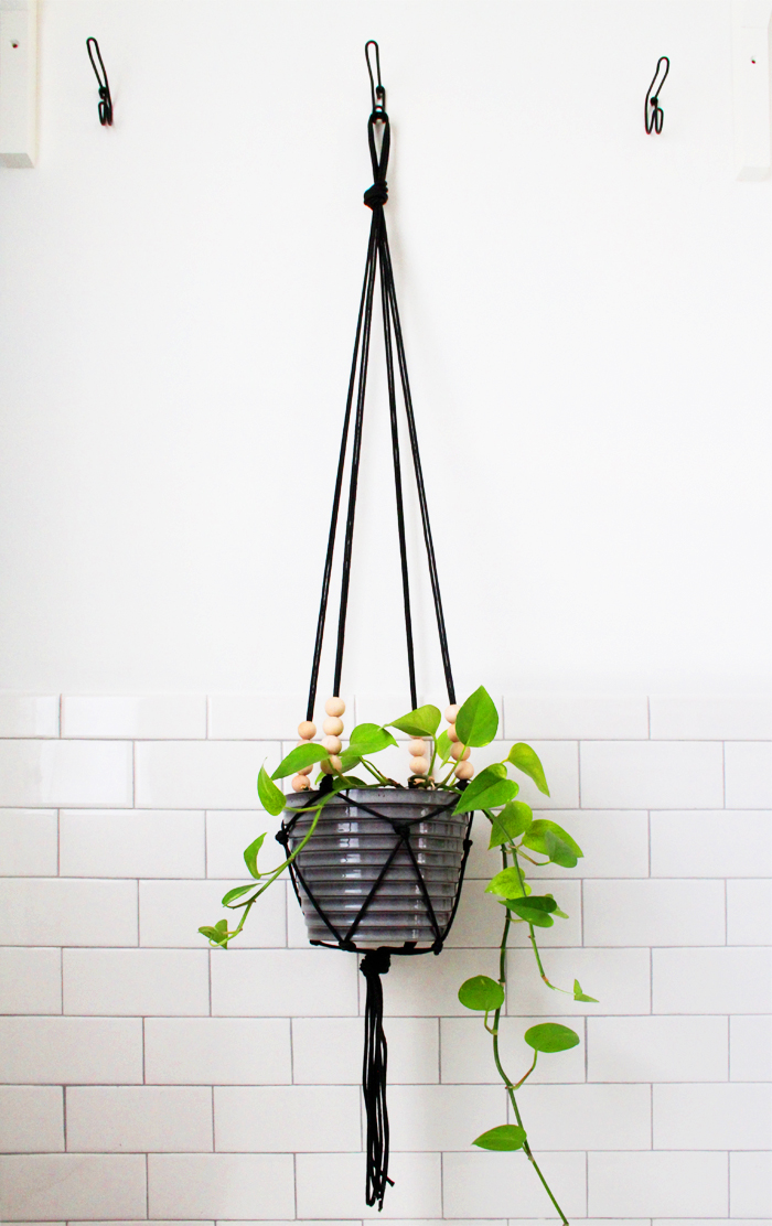 Easy DIY Modern Macrame  Planter Tutorial