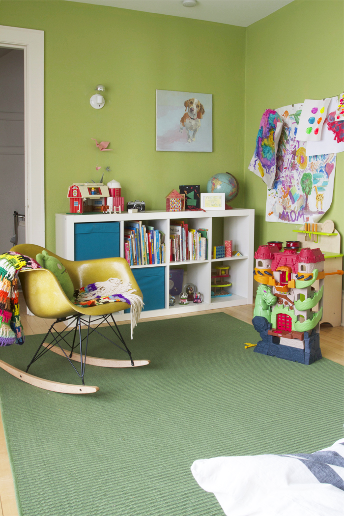 A Shared Green Boys Room