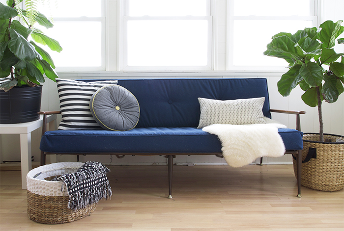DIY Box Cushion Sofa Upholstery