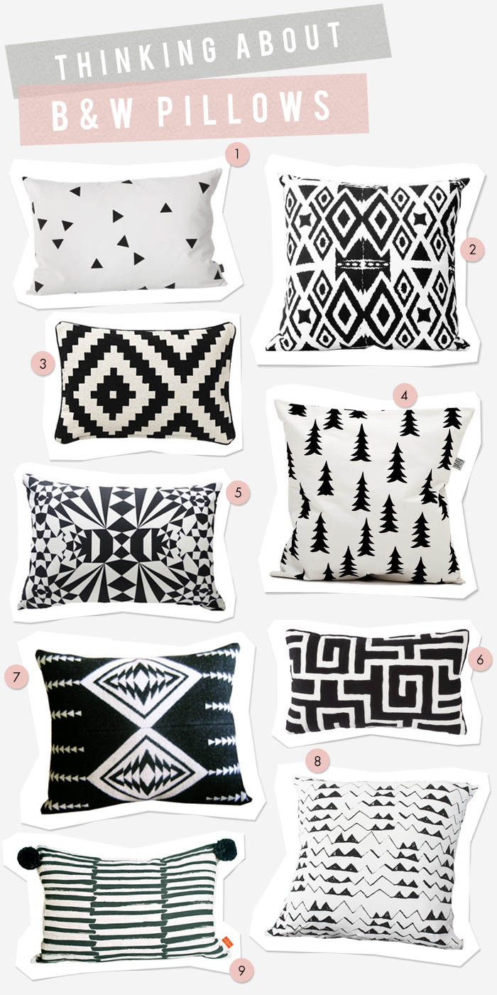 9 - Black & White Pillows
