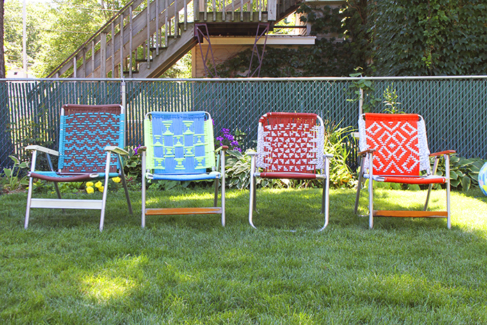 How to Make Macrame Lawn Chairs