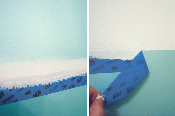 Painting Lines with Masking Tape