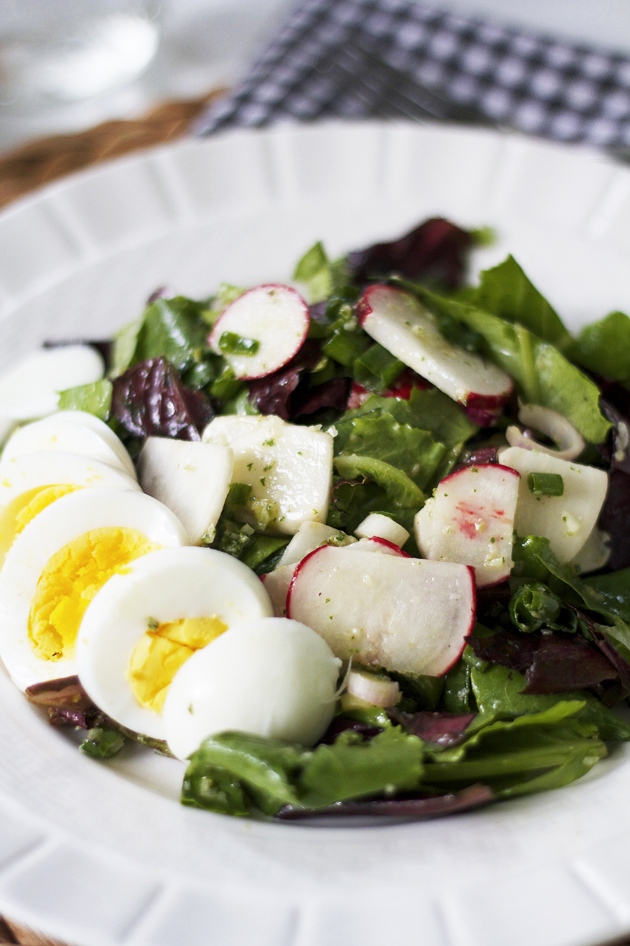 Radish & Turnip Salad with Oregano Vinaigrette