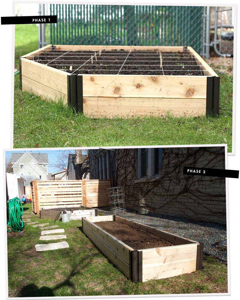Progress is slow on the side garden