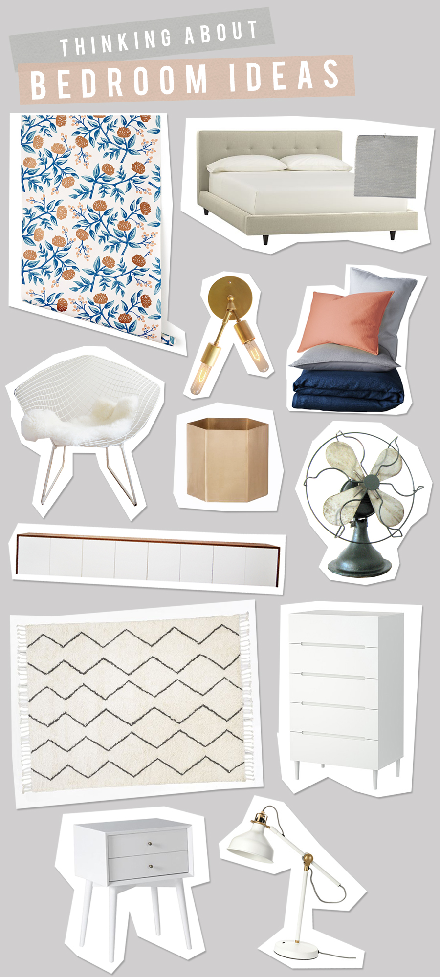 Vintage Modern Bedroom Idea Board