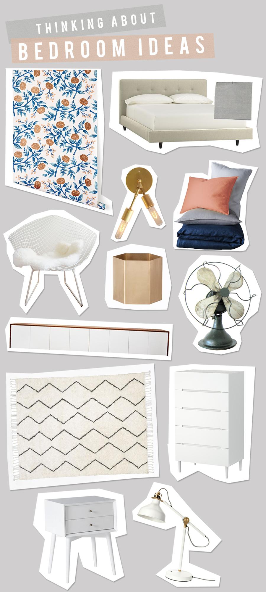 Vintage Modern Bedroom Idea Board