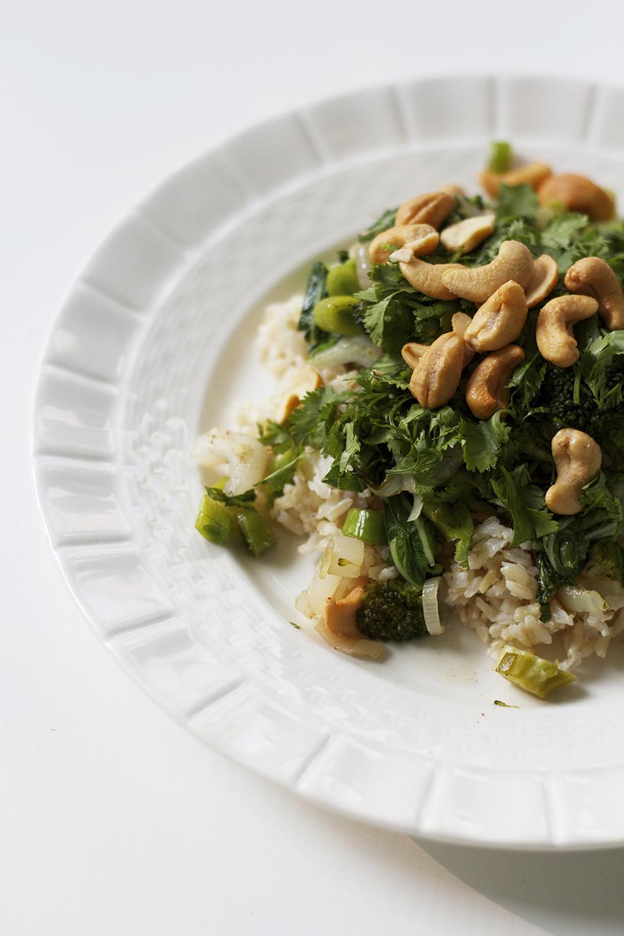 Bok Choy & Broccoli Stir Fry