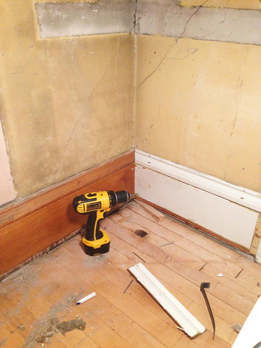 Repairing Antique Baseboard Molding