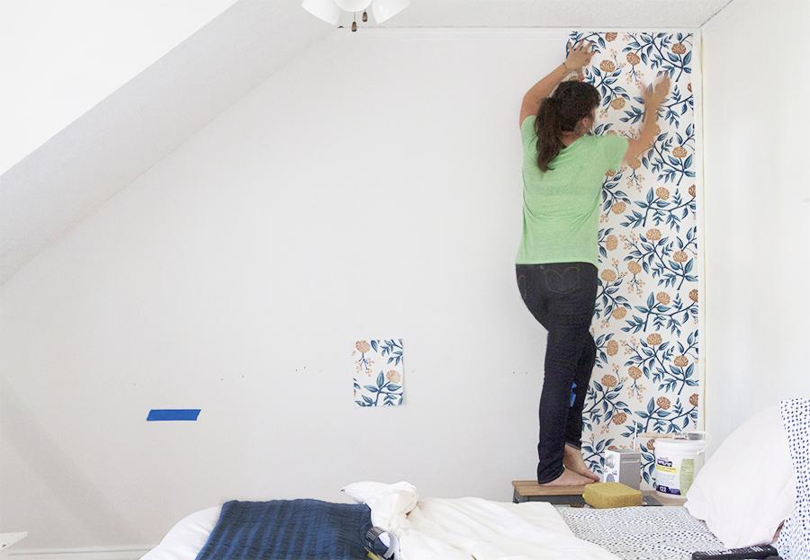 Hang First Strip of Wallpaper on Plumb Line