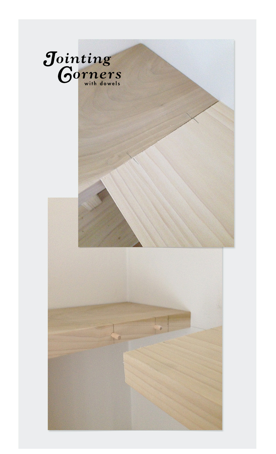 Joint Corners with Dowels