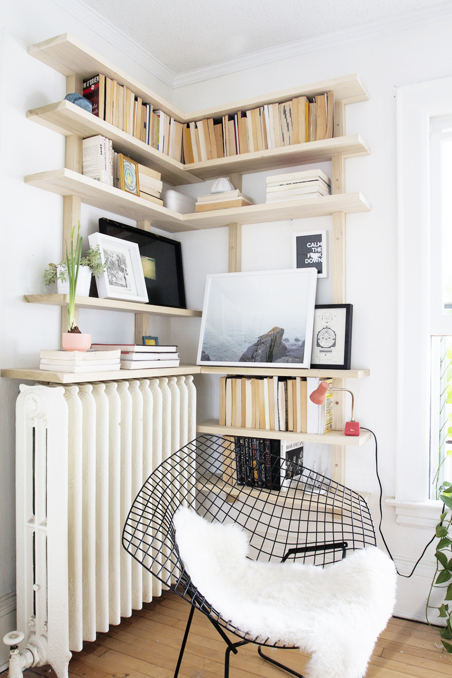 Scandi Influenced Corner Shelving