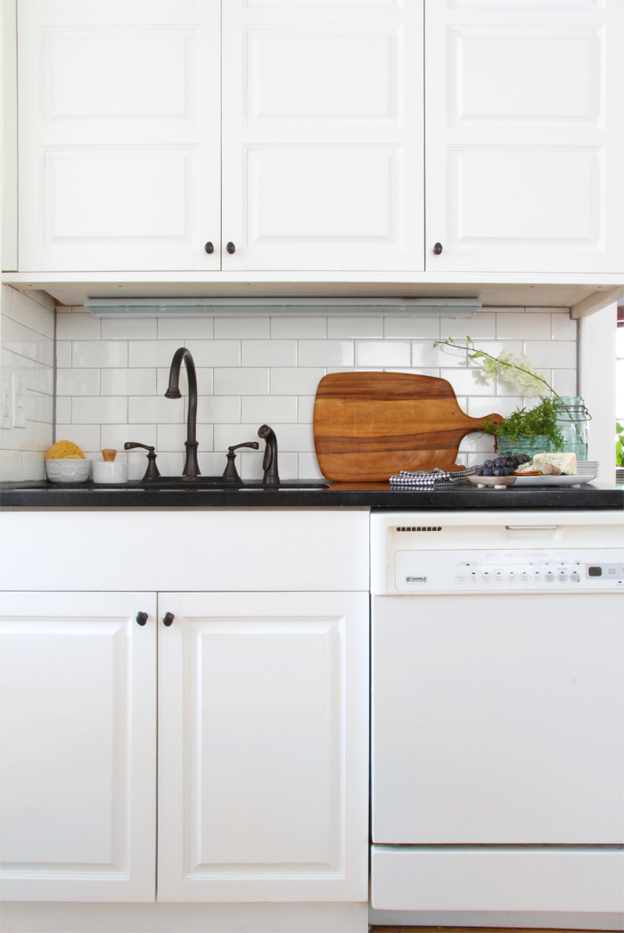 Deuce Cities Henhouse Kitchen Reveal - White Subway Tile Backsplash, White Cabinets