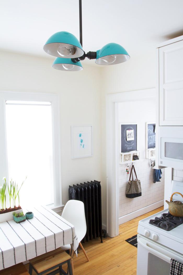 Deuce Cities Henhouse Kitchen Reveal - Black, White & Turquoise
