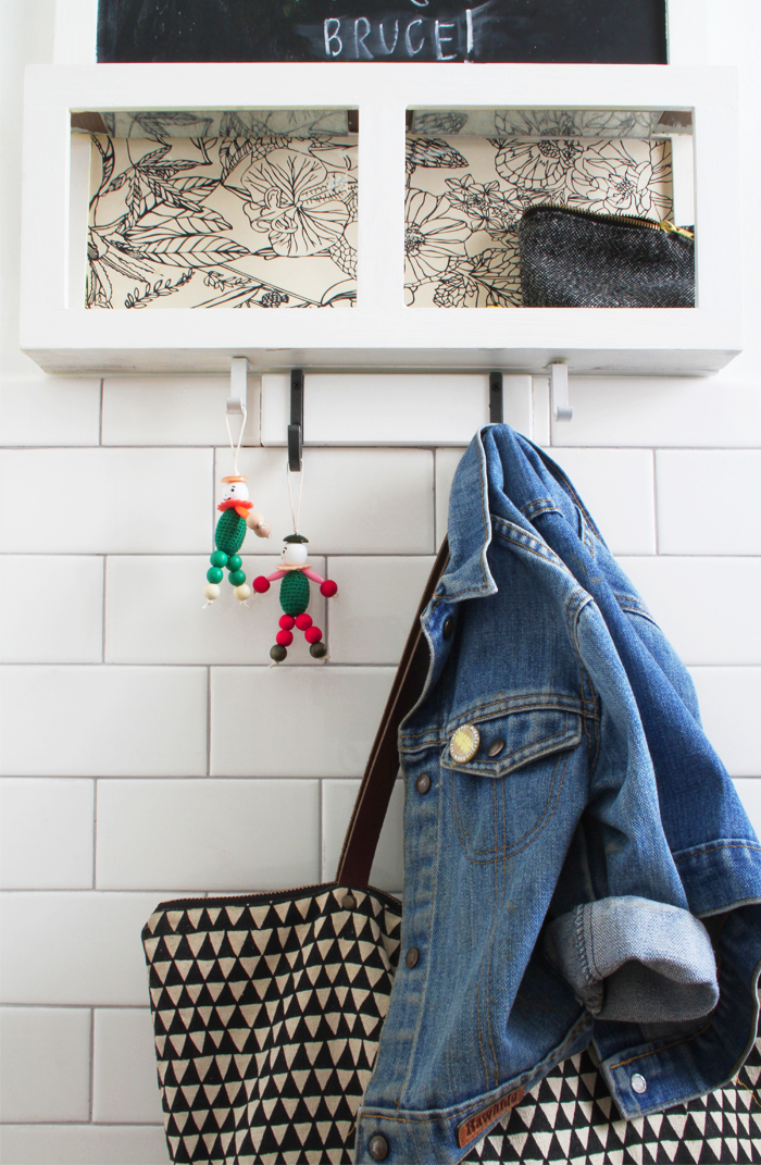 Deuce Cities Henhouse Kitchen Reveal - Detail Mudroom, Subway Tile
