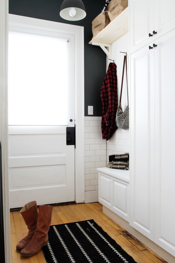 Deuce Cities Henhouse Kitchen Reveal - Subway Tile in the Mudroom, Cabinets and Storage