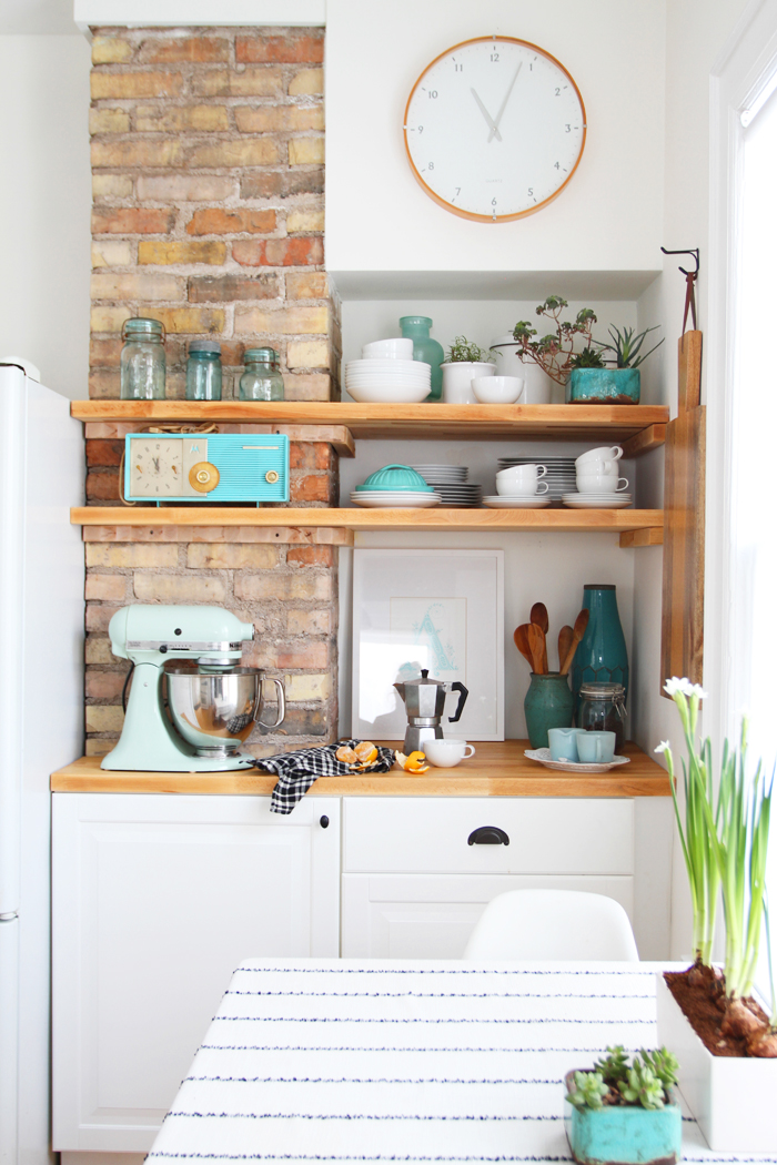 Deuce Cities Henhouse Kitchen Reveal - Cabinets, Shelves and Table