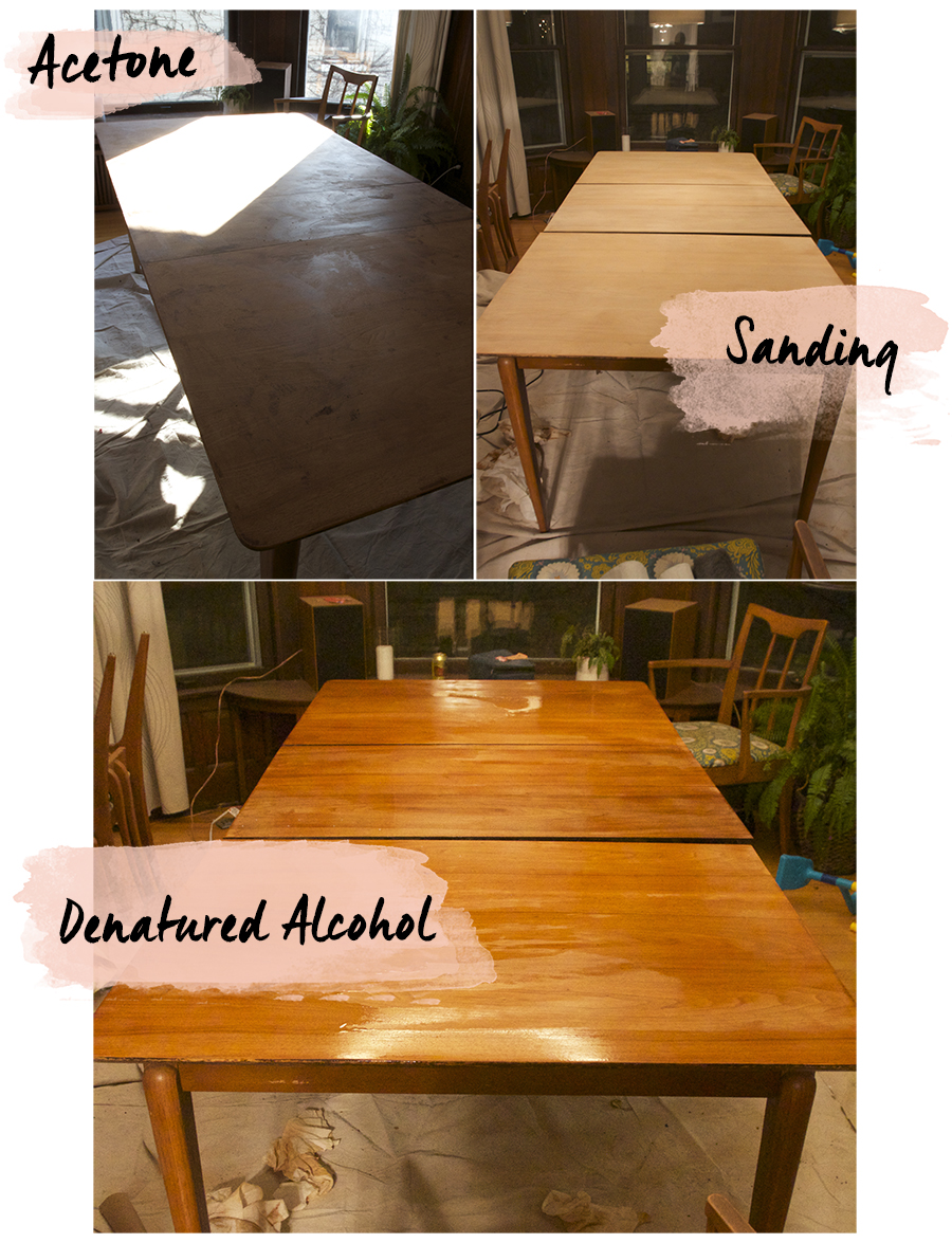 Refinishing a Mid Century Dining Room Table