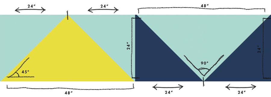 Geometrical Color Blocking Pattern