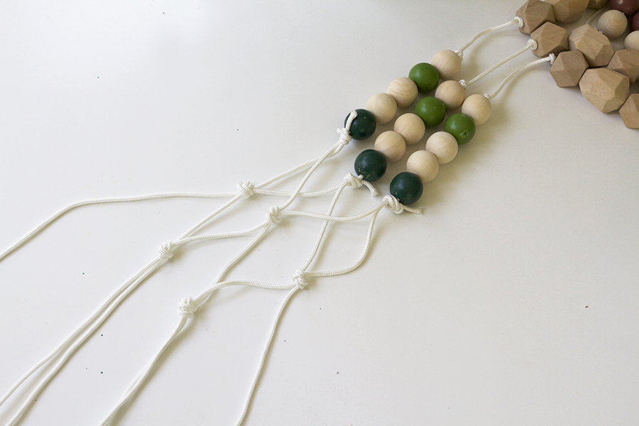 Make a Modern Beaded Macrame Planter