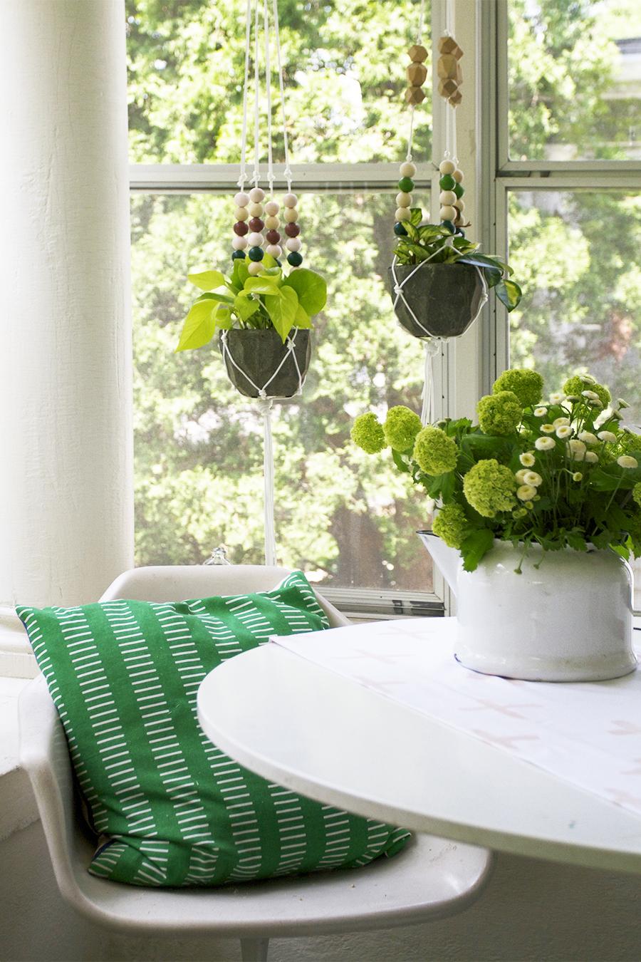 Make a Modern Beaded Macrame Planter