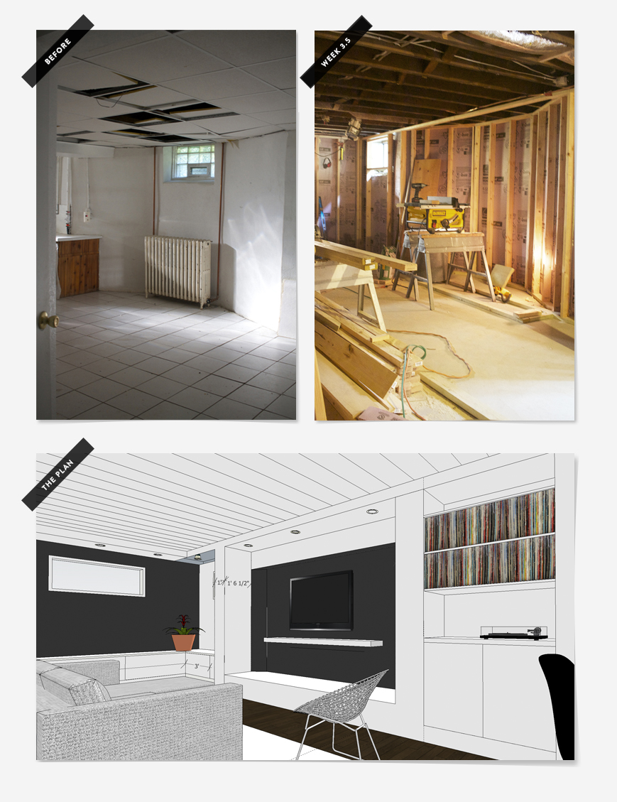 Basement Remodel : Week 2 | Deuce Cities Henhouse