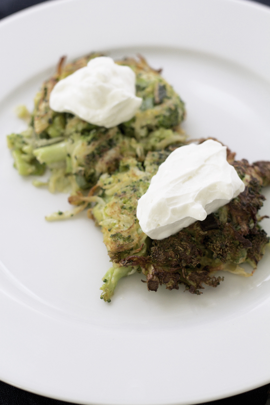 Kohlrabi & Broccoli Fritters