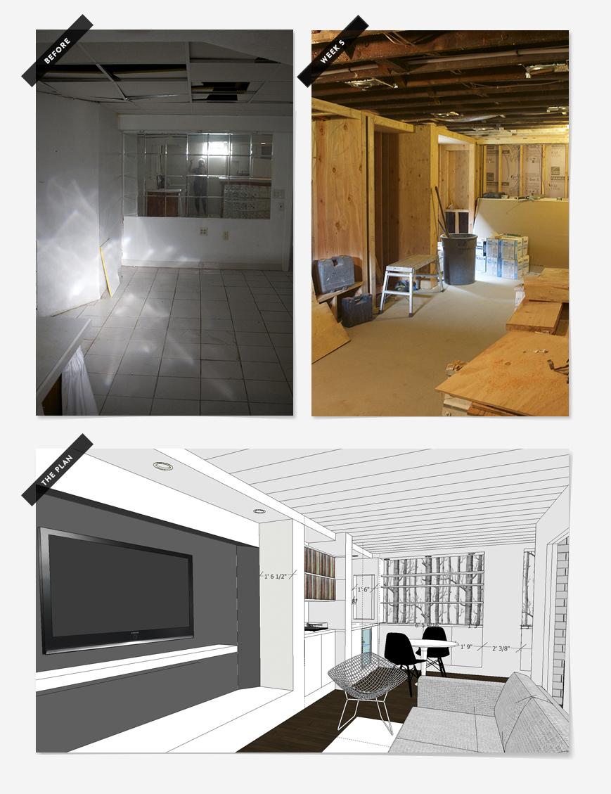 Basement Remodel : Week 2 | Deuce Cities Henhouse