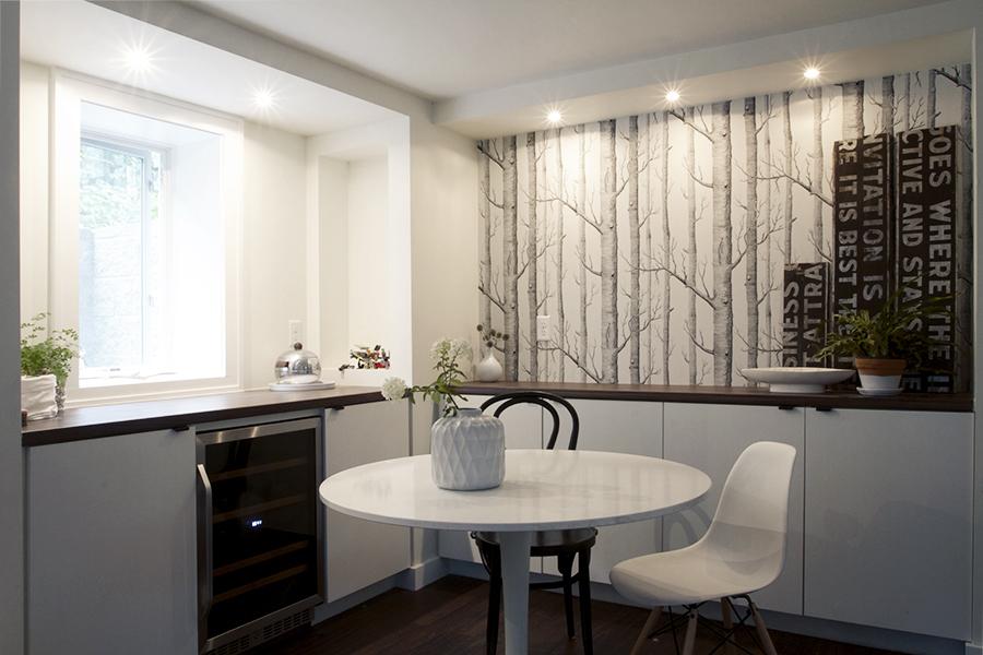 Scandinavian inspired basement remodel