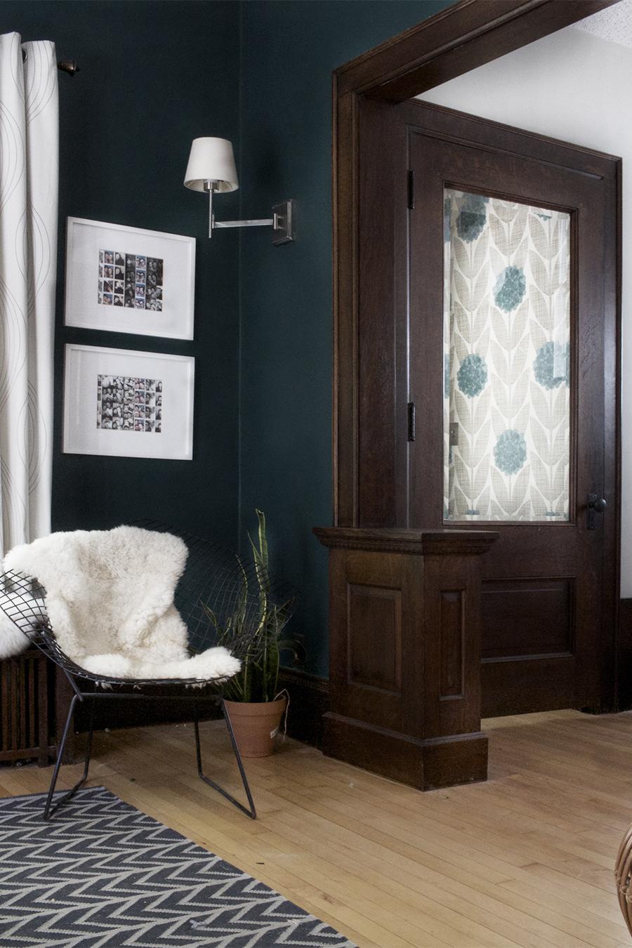 Dark Blue Living Room | Deuce Cities Henhouse