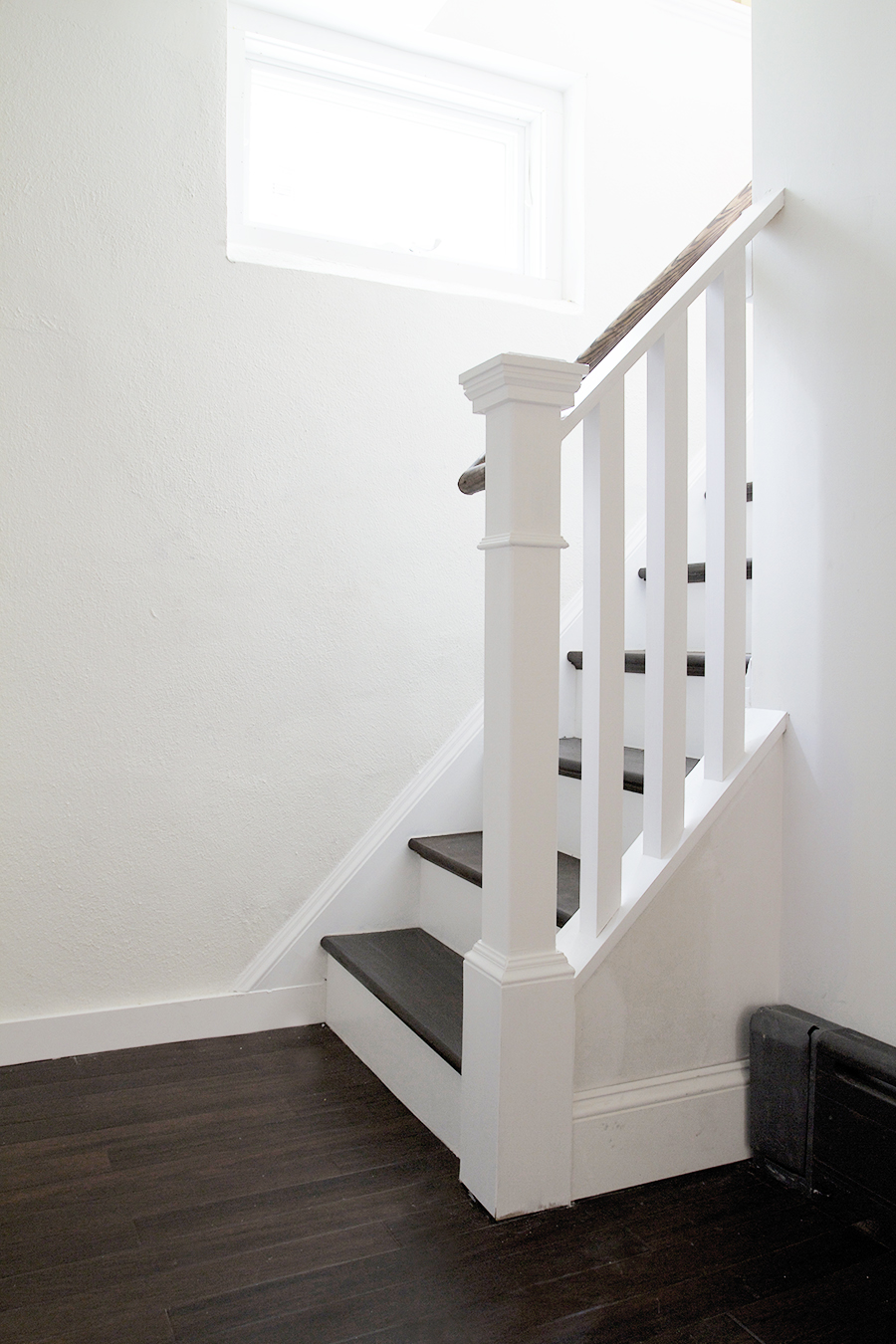 DIY Staircase with new Treads