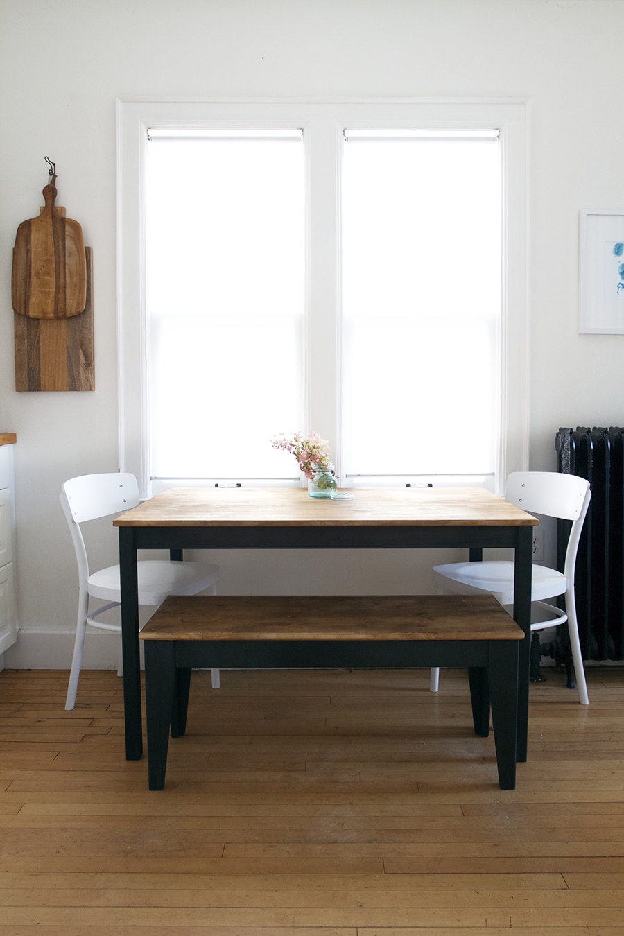 Table and Bench Makeover using Amy Howard at Home paints and waxes
