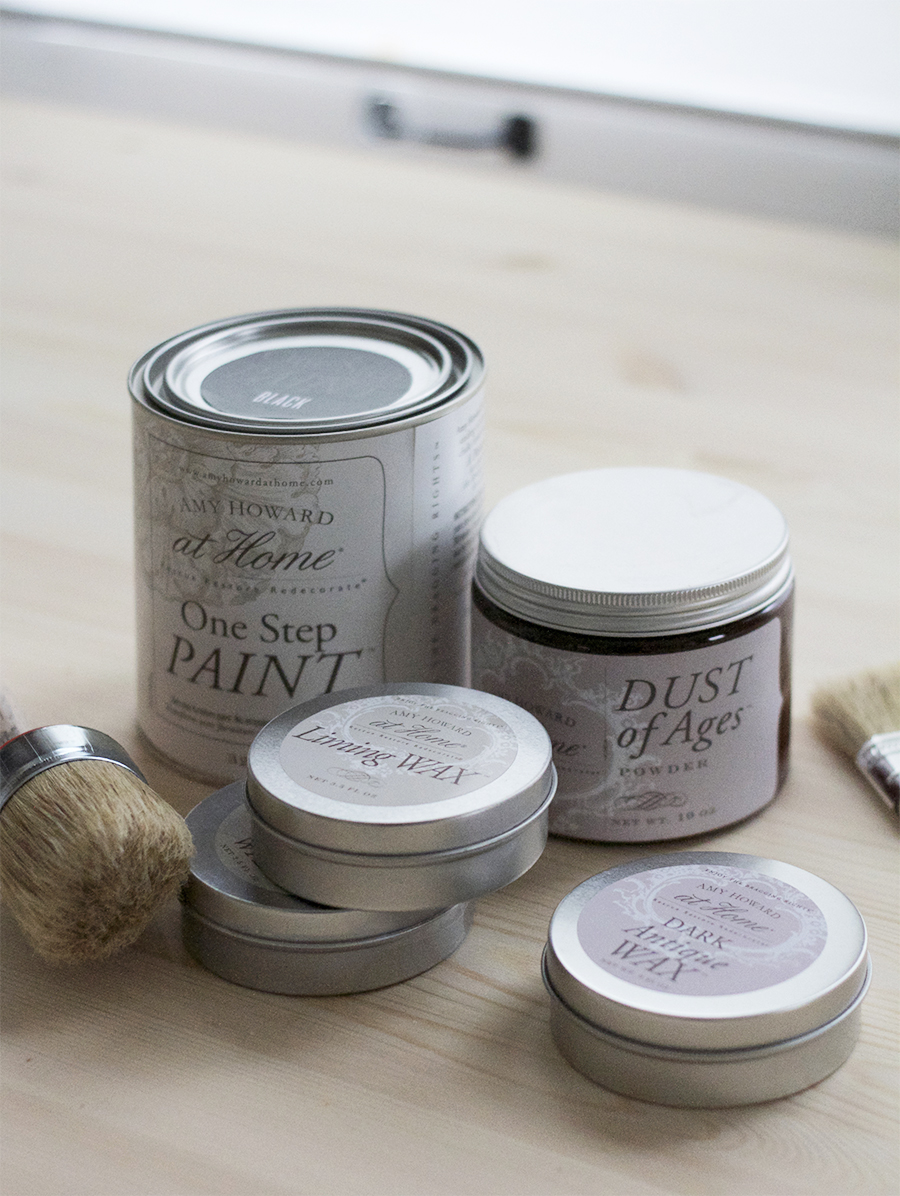 Amy Howard at Home One Step paints and waxes