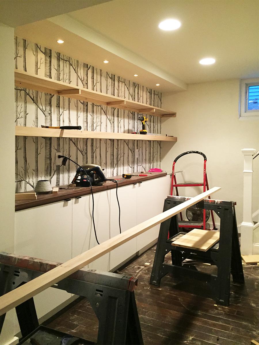 In Progress : Building Floating Shelving