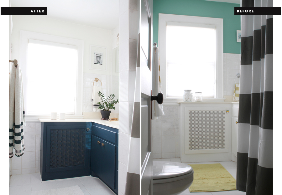 A Mini Bathroom Makeover : Before and After