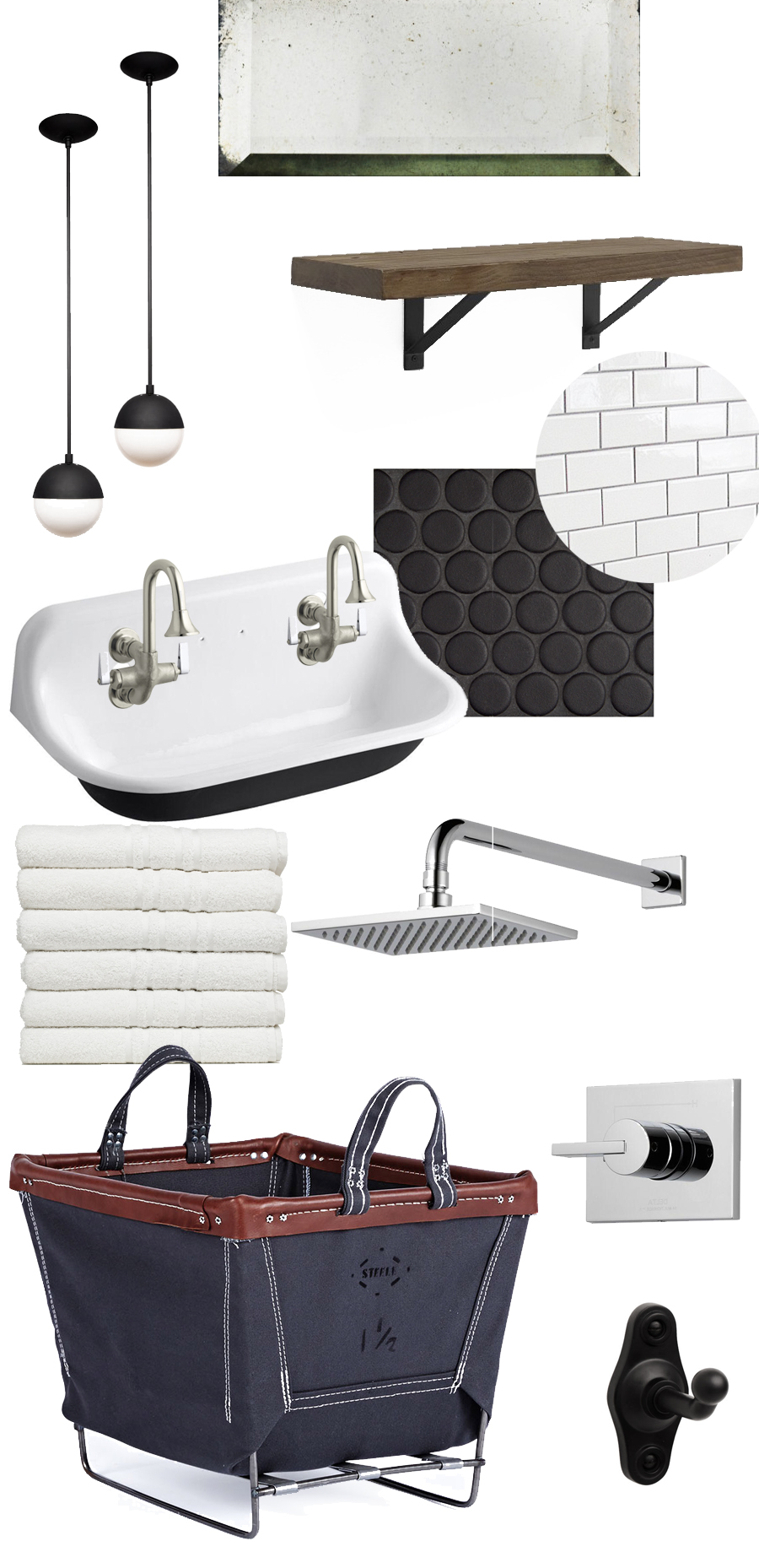 Creating a vintage/modern/industrial bathroom