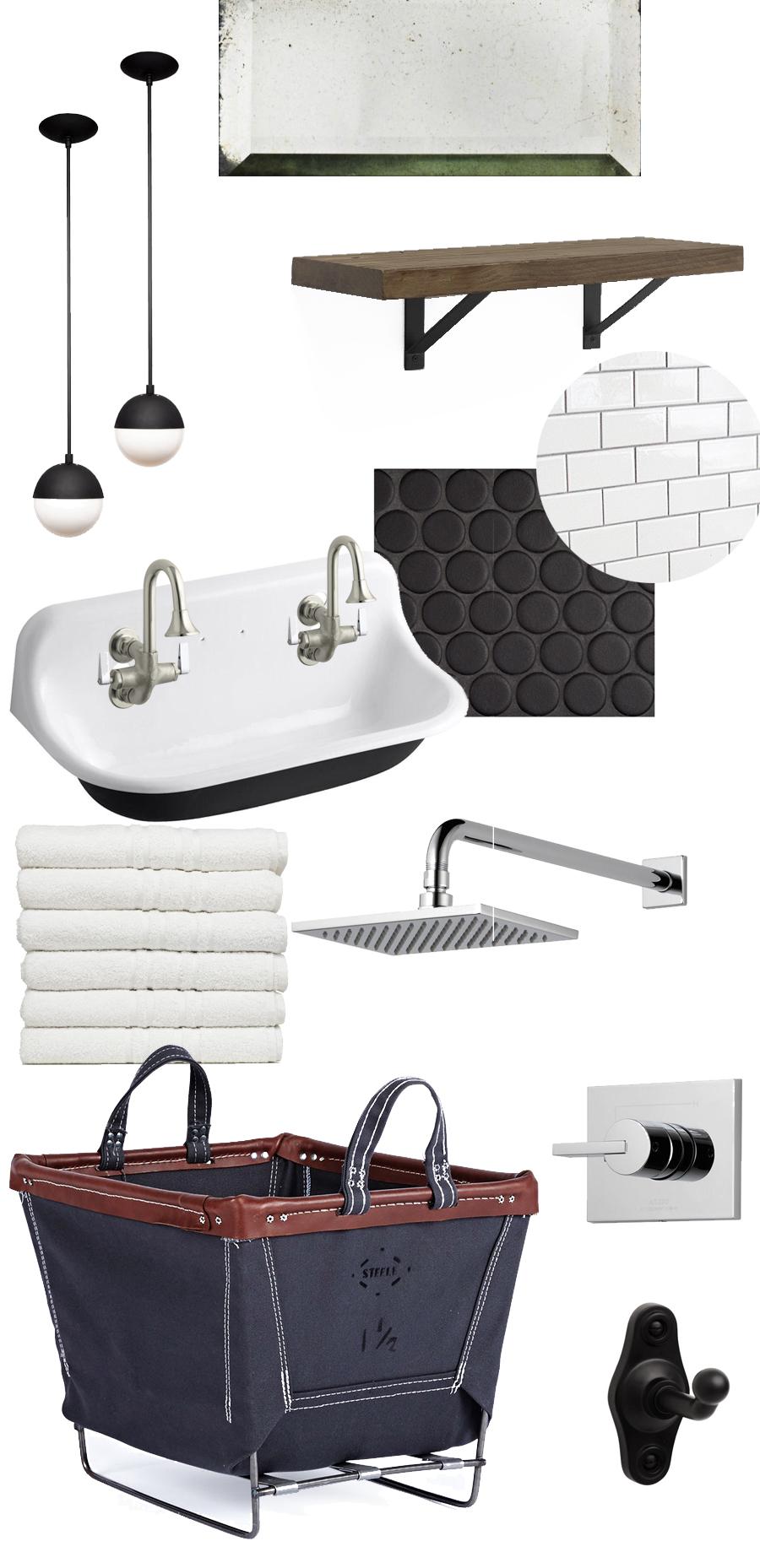 Creating a vintage/modern/industrial bathroom