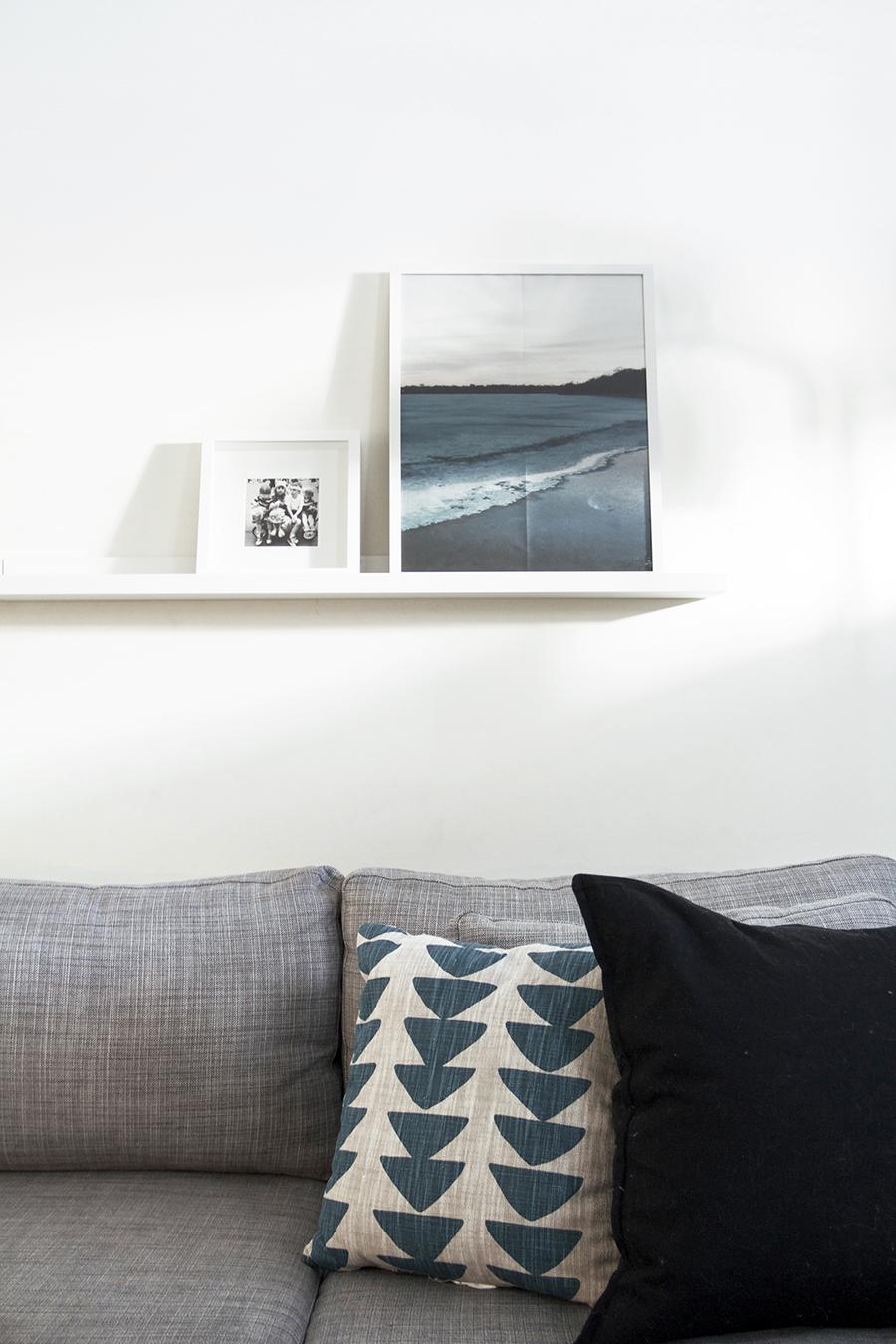 Ikea Ledge for Artwork